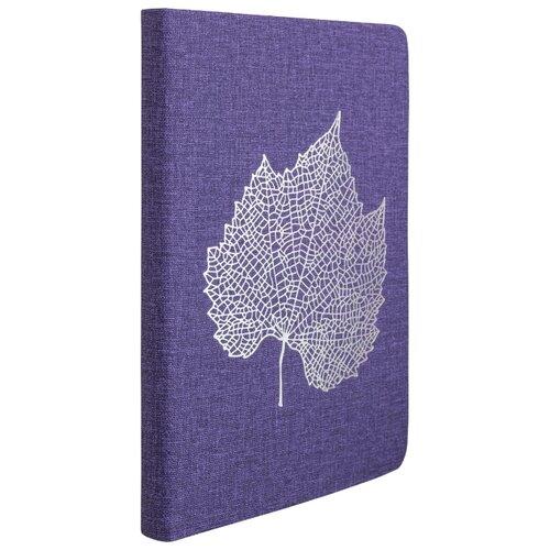 Купить Ежедневник Index Leaf недатированный, искусственная кожа, А5, 168 листов, лавандовый, Ежедневники, записные книжки