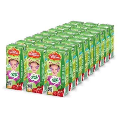 Сок Сады Придонья Яблоко-Вишня, прямого отжима, без сахара, 0.2 л, 27 шт. сок сады придонья яблоко и вишня с мякотью прямого отжима с 5 мес 200 мл