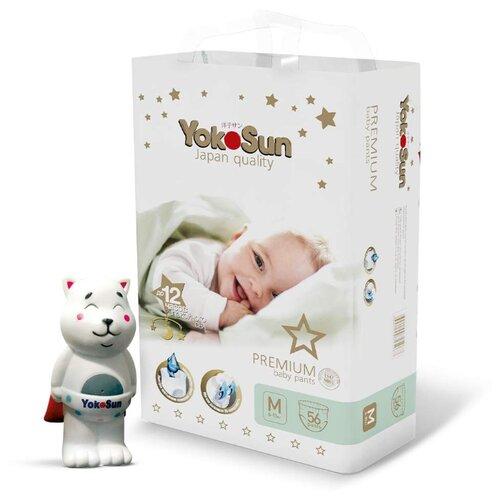 Фото - YokoSun трусики Premium M (6-10 кг) 56 шт + игрушка для ванной котик Йоко yokosun трусики xl 12 20 кг 76 шт игрушка для ванной котик йоко