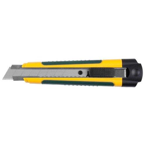 Купить Kraftool Expert 09199 18 мм желтый/зеленый, Ножи канцелярские