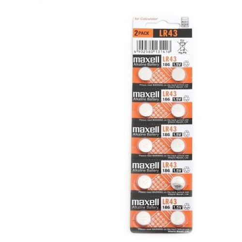 Фото - Батарейка Maxell G12/LR1142/LR43/386A/186 BL10 Alkaline 1.5V 10 шт maxell mc tw3506 укф интерактив