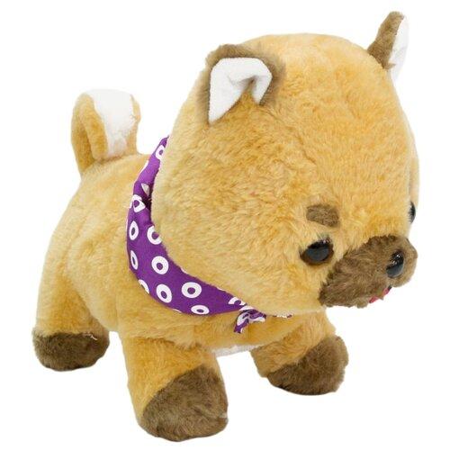 Купить Мягкая игрушка Dolemikki Щенок с фиолетовой банданой 32 см, Мягкие игрушки
