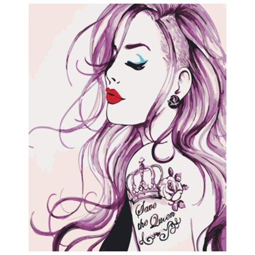 Картина по номерам Девушка с татуировкой
