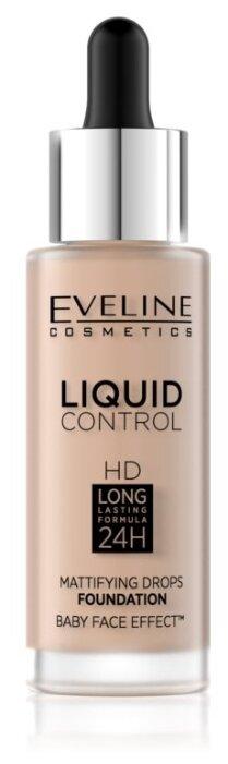 Eveline Cosmetics Тональный флюид Liquid Control HD Mattifying Drops, 32 мл
