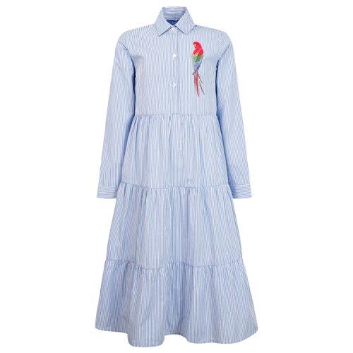 Платье Stella Jean размер 152, белый/голубой/полоска