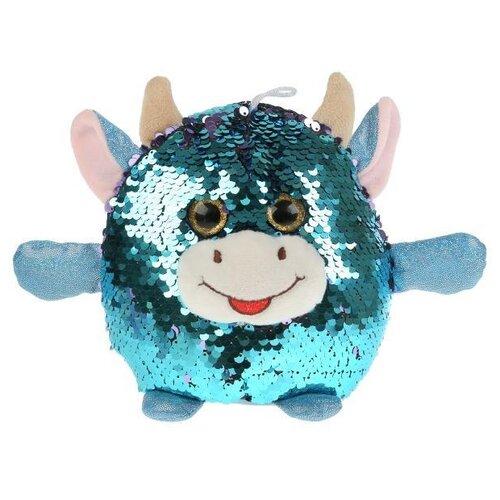 Купить Игрушка мягкая корова из пайеток 17см, Мульти-пульти, Мульти-Пульти, Мягкие игрушки