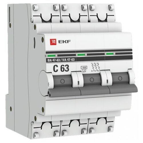 Автоматический выключатель EKF ВА 47-63 3P (C) 4,5kA 32 А кастрюля с крышкой elo alucast 2 л