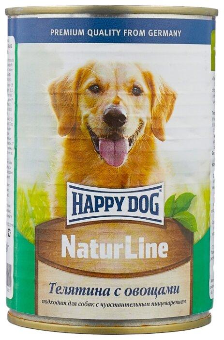 Корм для собак Happy Dog NaturLine телятина с овощами 400г