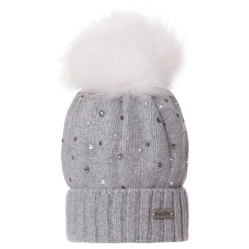 Шапка-бини Trestelle размер 54/56, серый шапка ignite цвет серый 018 hiphop stripe размер 54 56