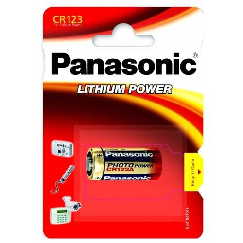 Фото - Элемент питания PANASONIC CR123A BL1 аккумулятор для фонарика surefire sf123a cr123a