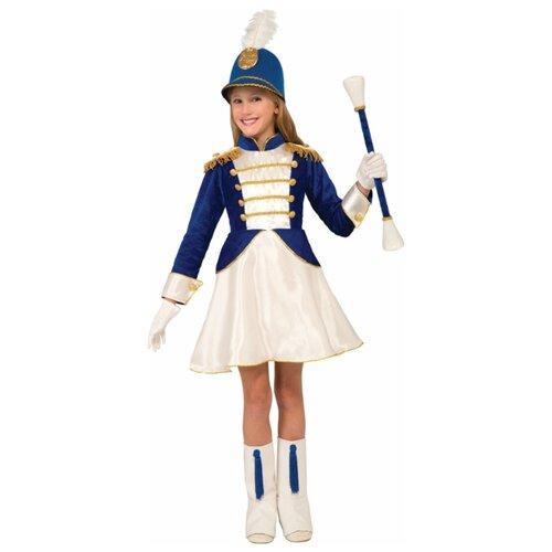 Купить Карнавальный костюм для детей Forum Novelties Костюм на 9 мая мажоретка в синем платье детский, L (10-12 лет), Карнавальные костюмы
