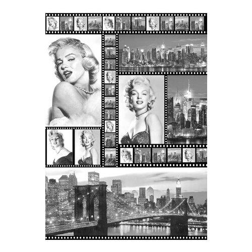 Купить Карта для декупажа Мэрилин Монро 50 х 70 см 1 лист, Stamperia, Карты, салфетки, бумага