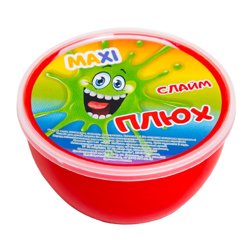 Лизун Плюх Maxi красный