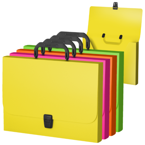 ErichKrause Портфель пластиковый Glance Neon A4 ассорти недорого