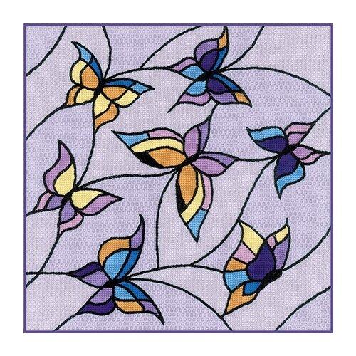 Фото - Риолис Набор для вышивания Подушка/панно Витраж. Бабочки 33 x 33 см (1625) набор для вышивания риолис сотвори сама 1600 подушка панно венское кружево