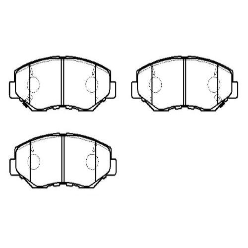 Дисковые тормозные колодки передние HONG SUNG BRAKE HP5096 для Honda CR-V (4 шт.) дисковые тормозные колодки передние hong sung brake hp8153 для honda civic 4 шт