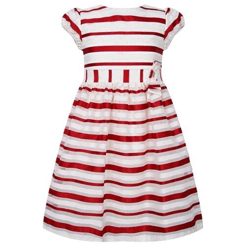 Платье Mayoral размер 92, белый/красный/полоска платье oodji ultra цвет красный белый 14001071 13 46148 4512s размер xs 42 170