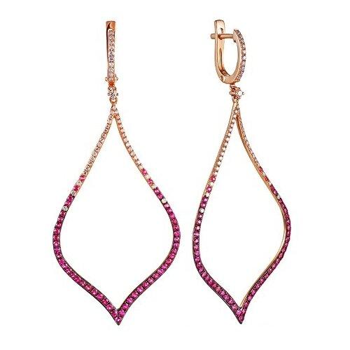 JV Серьги из розового золота 585 пробы с рубинами и бриллиантами EE00798DSAP4R1-RU-PINK