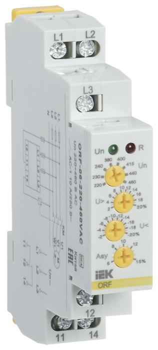 Реле контроля фаз IEK ORF-06-220-460VAC — цены на Яндекс.Маркете
