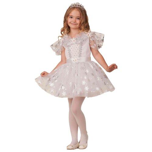 Купить Костюм Батик Снежиночка (1940), белый, размер 134, Карнавальные костюмы