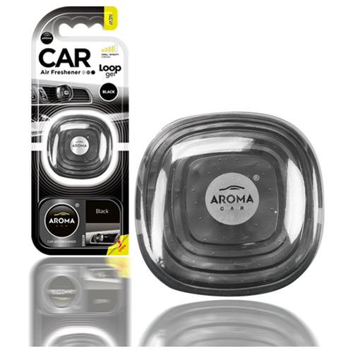 Ароматизатор автомобильный на дефлектор Aroma Car LOOP Gel, Black