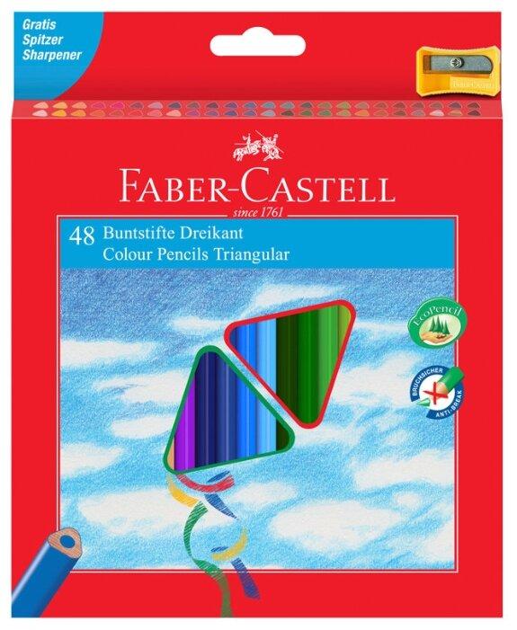 Faber-Castell Карандаши цветные трехгранные c точилкой 48 цветов (120548)