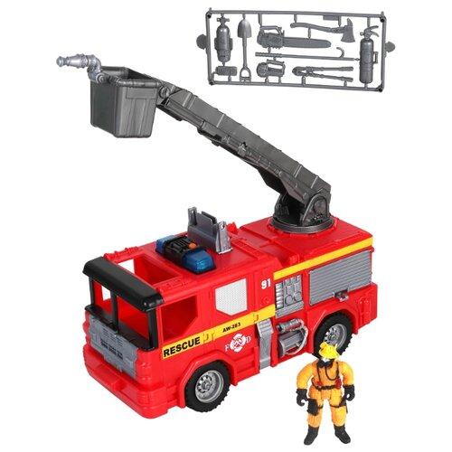 Купить Пожарный автомобиль Chap Mei Rescue Force (546067) 28 см красный, Машинки и техника
