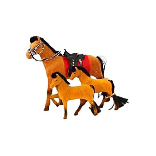 Купить Play Smart Сивка-Бурка лошадка с жеребятами (2547/2548) коричневый, Транспорт для кукол