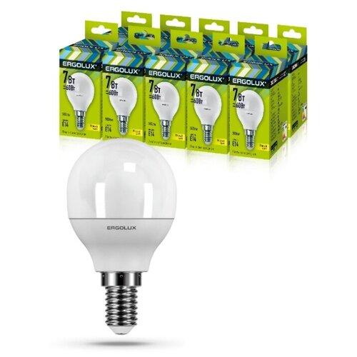 Фото - Светодиодная Лампа Ergolux LED-G45-7W-E14-3K упаковка 10 шт светодиодная лампа ergolux led g45 11w e27 6k упаковка 10 шт