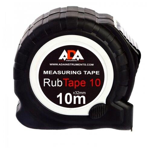 Измерительная рулетка ADA instruments RubTape 10 32 мм x 10 м измерительная рулетка ada instruments rubtape 3 16 мм x 3 м