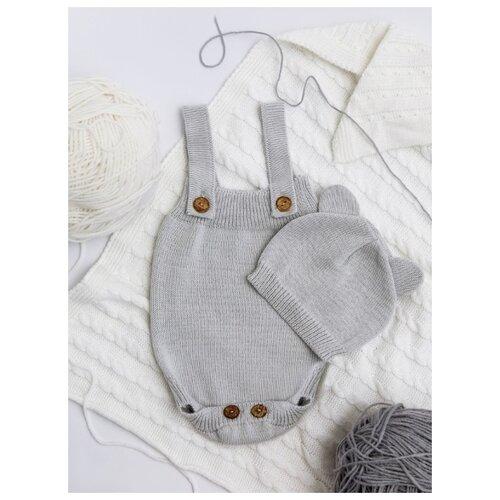 Купить Комплект одежды Amarobaby размер 68, серый, Комплекты