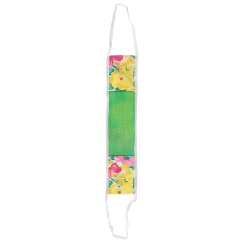 Мочалка Art D'Lis массажная, с ручками (М344) зеленый/желтый/белый