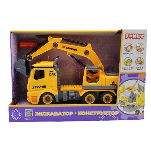 Купить Винтовой конструктор Funky Toys Экскаватор FT61111, Конструкторы
