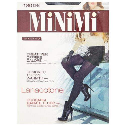 Колготки MiNiMi Lanacotone 180 den, размер 4-L, fumo (серый) колготки minimi lanacotone 180 den размер 4 l nero черный