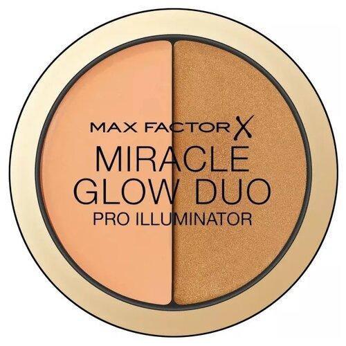Max Factor Хайлайтер Miracle Glow Duo 30, deep хайлайтер для лица miracle glow duo 10 light