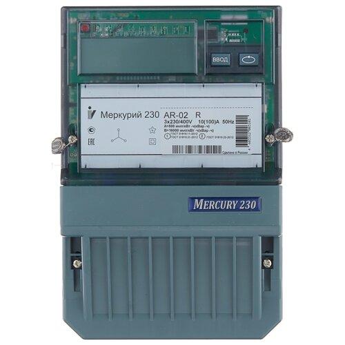 Фото - Счетчик электроэнергии трехфазный однотарифный INCOTEX Меркурий 230 АR-02 R 10(100) А счетчик электроэнергии однофазный многотарифный incotex меркурий 206 rn 5 60 а