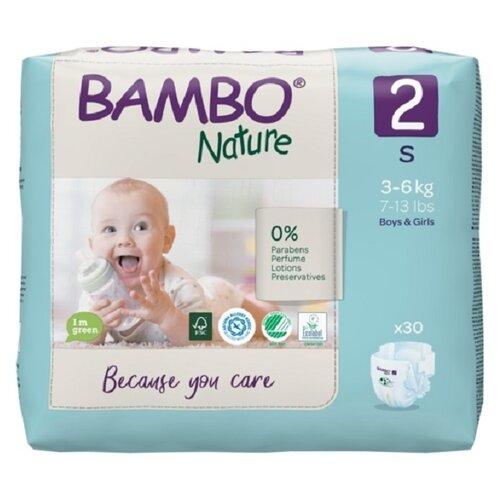 Купить BAMBO подгузники Nature 2 (3-6 кг) 30 шт., Подгузники