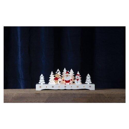 Светильник светодиодный рождественский RUDOLF, высота - 16 см, на батарейках, цвет - разноцветный, 275-15 ваза с рельефом 30 см 19118230 0157 rudolf kampf