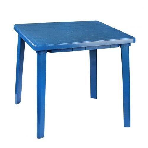Стол обеденный садовый Альтернатива квадратный, синий