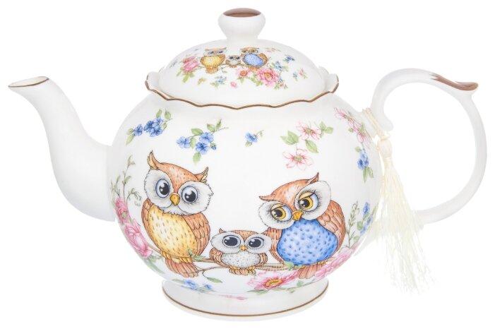 Купить Чайник 1,1 л 24х14х15 см Elan Gallery Совушки по низкой цене с доставкой из Яндекс.Маркета (бывший Беру)