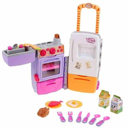 Набор Shantou Gepai портативная 9911 белый/розовый/оранжевый/фиолетовый набор посуды shantou gepai play house b1750458 розовый фиолетовый голубой