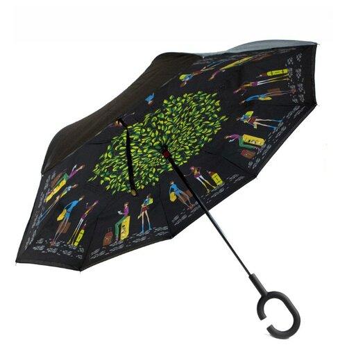 Зонт механика Удачная покупка YS08 черный/зеленый зонт механика удачная покупка ys01 черный желтый