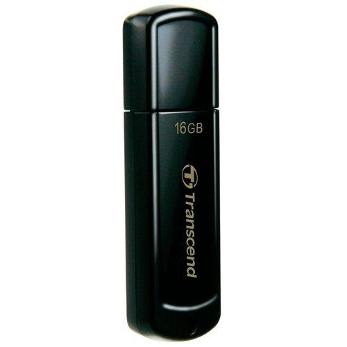 Флешка Transcend JetFlash 350 16 GB черный