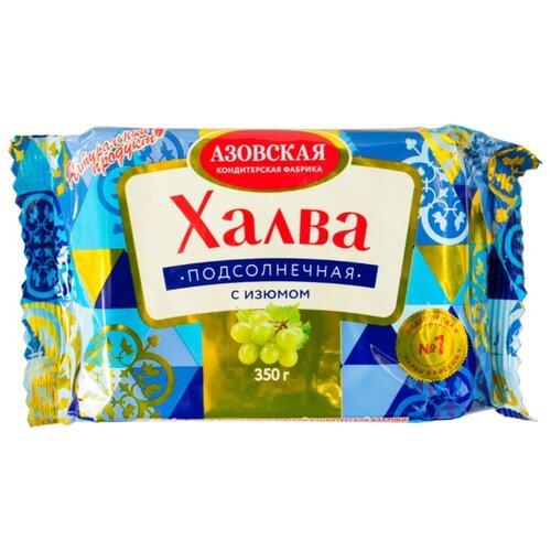 Халва Азовская кондитерская фабрика подсолнечная с изюмом 350 г