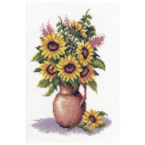 Купить PANNA Набор для вышивания Букет подсолнухов 17.5 х 25 см (Ц-0153), Наборы для вышивания