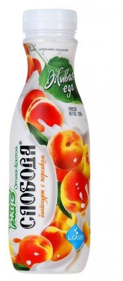 Питьевой йогурт Слобода Био с персиком 2%, 290 г