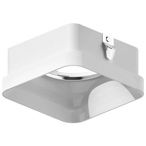 Насадка передняя для корпуса светильника с размером отверстия 70*70mm N7755 FR белый матовый 70*70*H33mm Out10mm MR16