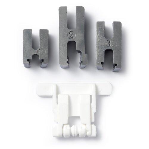 Адаптер для лапки Prym для притачивания застежек-молний белый/серебристый адаптер для низкой посадки лапки brother оригинал f010n