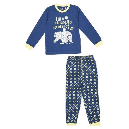 Купить Пижама RuZ Kids размер 122-128, синий/желтый, Домашняя одежда