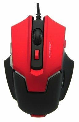 Мышь LOGICFOX LF-GM 046 Black-Red USB